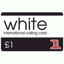 Pack of 10 x White £1 Phone Cards International Calling Cards First National