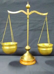 Set Of Brass Justice Scales