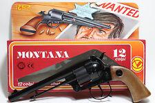 RARE 12 SHOTS CAP GUN COWBOY TOY VILLA GIOCATTOLI 10inch WANTED FULL METAL ITALY