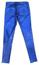 Siwy Denim Hannah Marine Blue Sequin Sequins Pants Size 25 Retails $215