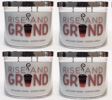 4 Bath & Body Works Rise And Grind Large 3-Wick Candle 14.5 oz