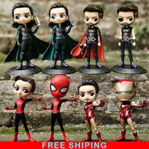 Marvel Avengers Endgame Thanos Spider Hulk Iron Man Captain Action Figure Toys