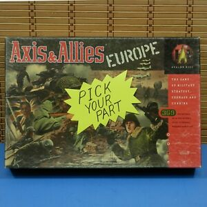 1999  Axis & Allies Europe Choose Your Part Avalon Hill G497