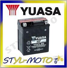 YTX7L-BS BATTERIA ORIGINALE YUASA CON ACIDO DERBI 125SM SENDA BAJA 2010