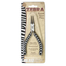 Beadsmith Zebra Line Round Nose Pliers with Double Spring * Jewelry Tools