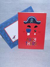Greeting Card Birthday Boy Pirate Ahoy There Skull Bones