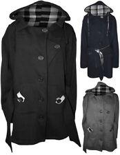 Plus Basic Cotton Blend Women's Coats & Jackets