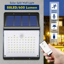 88LED Waterproof Solar Powered Wall Light PIR Motion Sensor Voice+Remote