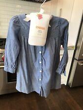 Girls H&M Chambray Shirt Dress Sz 9-12 Mts+ New Gymboree Tights Sz 12-24 Mts