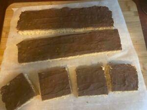Peanut Butter Chocolate cover Rice Crisp Treats