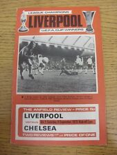 08/09/1973 Liverpool v Chelsea  (Crease, Scores & Team Changes Noted).  Thanks f
