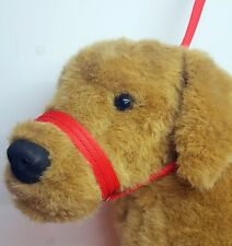 Figure of eight Airweb cushion  dog halter headcollar & Lead in one Red