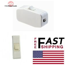 White Appliance Cord Switch 3 Amp 125v Light Electrical Wire Lamp Part