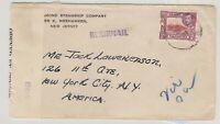 Kenya Uganda & Tanganyika 1941 Commercial Censor Airmail Cover To NYC  J6055