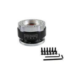 Aluminium Car Steering Wheel Quick Release HUB Adapter Snap Off Boss Kit BLACK