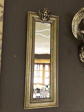 Slim Silver Shabby Chic Angel Cherub Wall Mirror Angelic Ornate Head