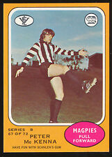1973 B Scanlens No. 67 Peter McKenna Collingwood Magpies MINT Card r