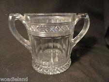 Crystal Pressed Glass Sugar or Spooner