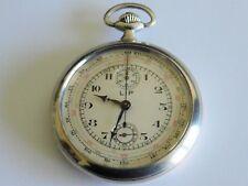 montre gousset chronographe lip argent +-1910 état concours  révisé Taschenuhr 2