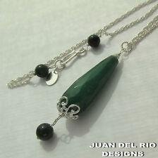 925 echte Nephrit Jade Anhänger-Kette Kanada British Columbia Silber Collier