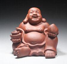 Chinese Yixing Tea Tray Decoration Zisha Tea Pet Qingshui Ni Laughing Buddha