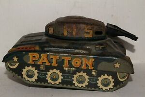 "1950's Made in Japan Tin ""Patton"" Army Tank, Original"