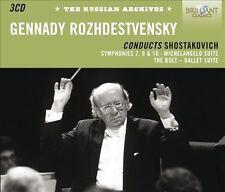 Gennady Rozhdestvensky conducts Shostakovich Symphonies #7,9 & 10~CDs~3 Discs