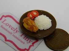 Miniature Yummy Food: Grilled Chicken Rice, can make Charms Kawaii accessories
