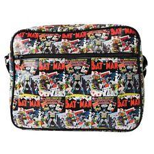 DC Comics Batman Comic Book Style Messenger Shoulder Bag - School Black Official