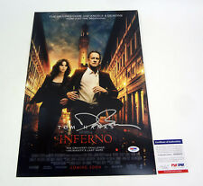 Dan Brown Author Signed Autograph Inferno Movie Poster PSA/DNA COA