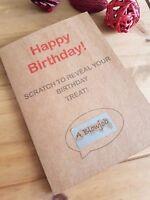 Scratch Card, Rude Funny Birthday card, Boyfriend/Girlfriend/Husband/Wife joke