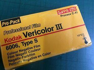 Kodak vericolor III colour print film 220 pack of 5 expired 02 1987