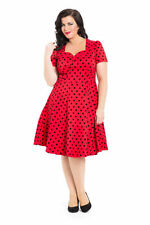 V-Neck Party Plus Size Spotted Dresses for Women