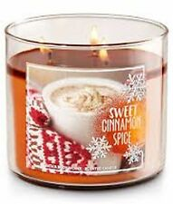 1 Bath & Body Works SWEET CINNAMON SPICE Large Scented 3-Wick Candle 14.5 oz