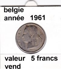 FB )pieces de baudouin  5 francs 1961  belgie