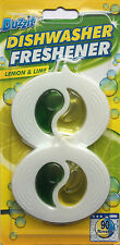 Duzzit DISHWASHER FRESHENER Lemon & Lime 30 Rinses Cleaner Clean