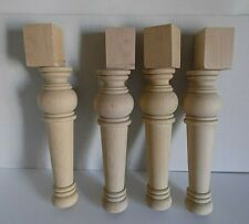 """Wood Unfinished Furniture Unfinished ~ 11"""" Tall ~ Set of 4"""