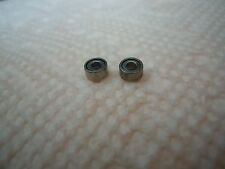 Ball Bearings For HO Slot Car Chassis (wide type 2mm) 2 bearings No ARM.Sanding