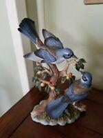 "HOMCO Home Interiors, ""Orchard Gathering"" porcelain bird figurine"