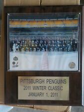 Pittsburgh Penguins 2011 Winter Classic Team Photo On Wooden Plaque New NHL