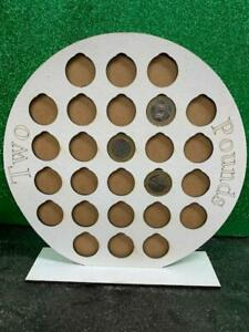 £2 Coin collection holder Display with stand holds 26 coins in White