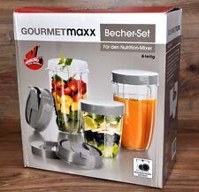 8 pz. bicchiere Set per nutrizione Mixer Smoothie Shaker da Gourmetmaxx NUOVO