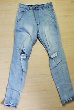 Zanerobe Sharpshot Denimo Pants Distressed Light Wash Busted Blue Thrash Size 29