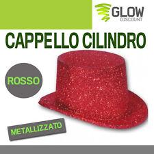 CAPPELLO CILINDRO ROSSO accessori carnevale costumi feste costume maschera  33583 4f38153d3200