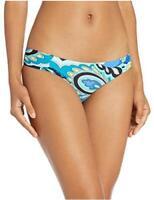 Trina Turk Women's Shirred Side Hipster Pant Bikini Bottom, Multi,, Multi, Size