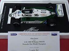 1:18 Spark Williams FW07B Alan Jones World Champ 1980-18S117 *SIGNED with COA*