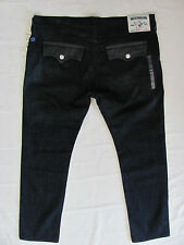 True Religion Skinny Flaps & Leather Jeans-Vld Wildernes - Size 42- NWT-$332