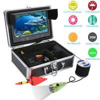 "9"" Inch Color Monitor 20M 1000tvl Underwater Fishing Video Camera Kit 6 PCS LED"