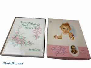 Vintage Through Baby's First Years Baby Book + Box By Dr. Dafoe