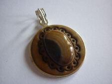 cristalloterapia PENDENTE MONACI TIBET DIASPRO MARRONE 2 ciondolo amuleto gemma